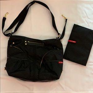 Black Medium Skip Hop Diaper bag
